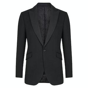 Hampton Black Single-Breasted Wool Dinner Jacket