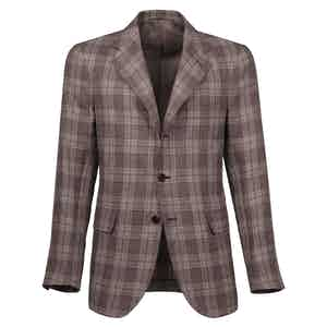 Caffé Checked Wool Single-Breasted Unlined Jacket