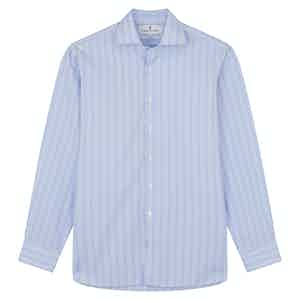 Pink and Blue Glen Check Tailored Fit Shirt with Kent Collar