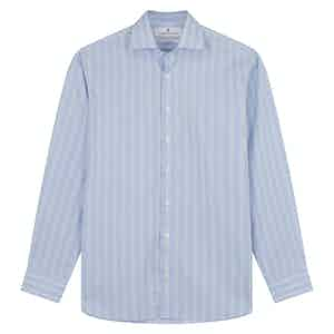 Yellow and Blue Glen Check Tailored Fit Shirt with Kent Collar