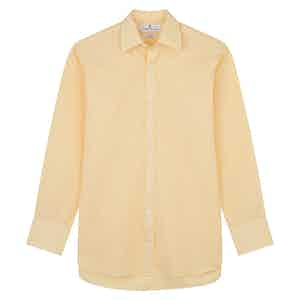 Yellow Fine Stripe Regular Fit Shirt with T&A Collar