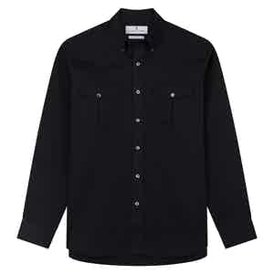 Navy Cotton Weekend Fit Shirt with Dorset Collar