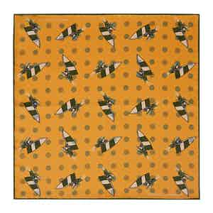 Yellow Windsurfer Double-Faced Silk Print Pocket Square