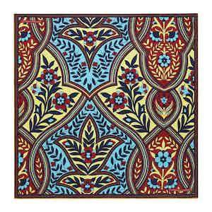 Cream Plaited Paisley Silk Print Pocket Square