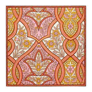 Ivory Plaited Paisley Silk Print Pocket Square