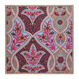 Fuchsia Plaited Paisley Silk Print Pocket Square