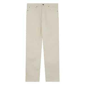Ecru Sanforized Denim Jeans