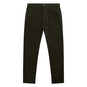 Olive Green Cord Trousers