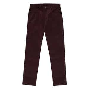 Plum Cord Trousers
