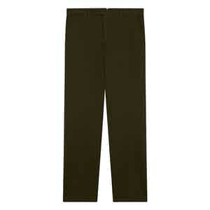 Olive Classic Chino Manson Trousers