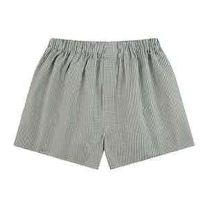 Green Gingham Check Boxer Shorts
