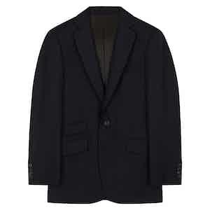 Midnight Navy Wool Barrington Blazer