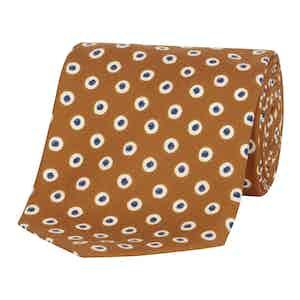 Orange Spotted Silk Tie