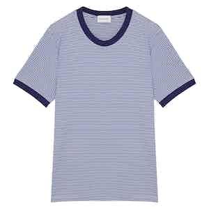 Blue Cotton Horizontal Striped Positano T-shirt
