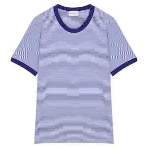 Royal Blue Cotton Horizontal Striped Positano T-shirt