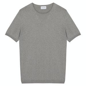 Matte Grey Silk T-Shirt