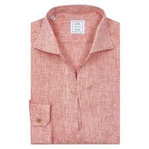 Red Linen Capra Shirt
