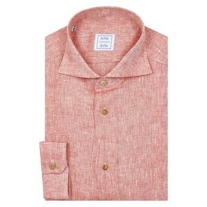 Red Linen Elba Shirt