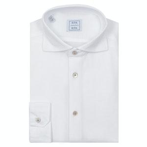 White Cotton Pique Favignana Shirt