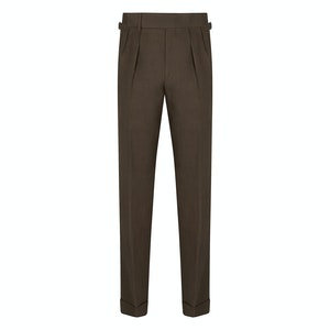 Chocolate Brown Linen House Trousers