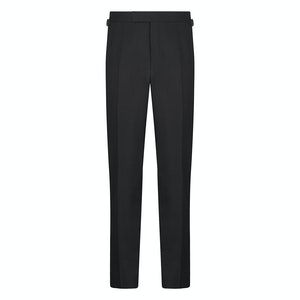 Black Wool Contemporary Dress Trousers