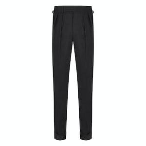Black Wool House Dress Trousers