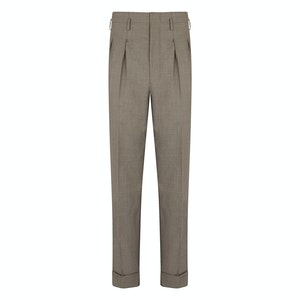 Biscuit Wool Hollywood Trousers
