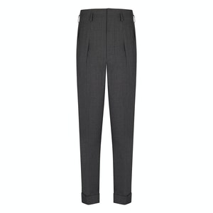 Dark Grey Wool Hollywood Trousers