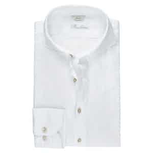 White Linen Slimline Shirt