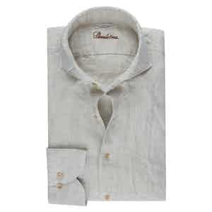 Neutral Linen Slimline Shirt