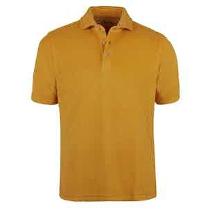 Yellow Cotton Terry Pique Shirt