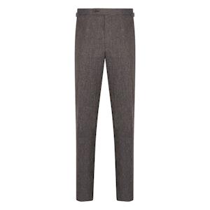 Indigo Linen Herringbone Trousers