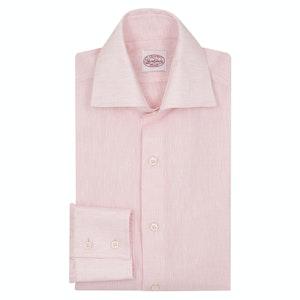 Pink Linen Two-Button Cuff Shirt