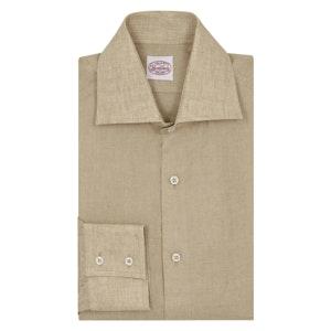 Sand Linen Two-Button Cuff Shirt