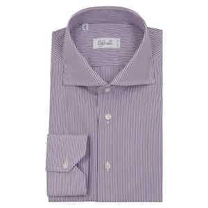 Purple and White Striped Shirt