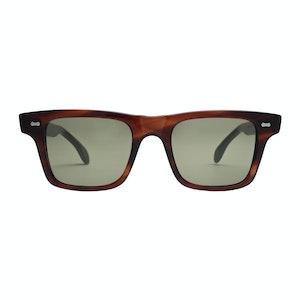 Brown Acetate Denim Havana Bottle Green Lens Sunglasses