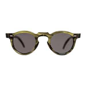 Green Bio-Acetate Welt Eco Green Gradient Grey Sunglasses