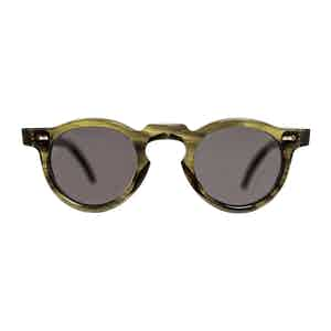 Green Bio-Acetate Welt Eco Green Gradient Grey Sunglasses