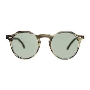 Green Bio-Acetate Lapel Eco Green Bottle Green Lens Sunglasses