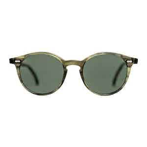 Green Bio-Acetate Cran Eco Green Bottle Green Lens Sunglasses