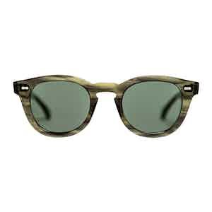 Green Bio-Acetate Donegal Eco Green Bottle Green Sunglasses