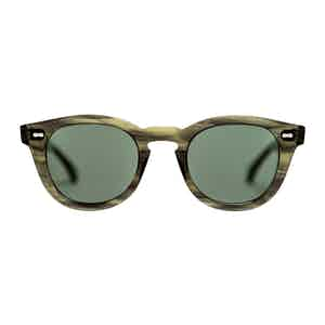 Green Bio-Acetate Donegal Eco Green Bottle Green Sunglasses
