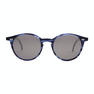 Blue Bio-Acetate Cran Ocean Gradient Grey Lens Sunglasses