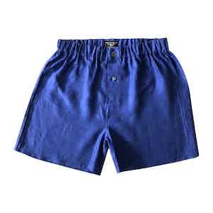 Sapphire Linen Boxer Shorts