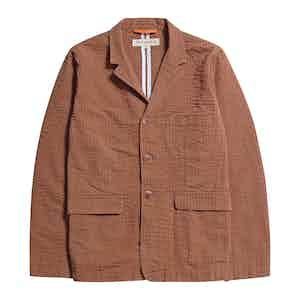 Thrush Brown BCI Cotton Seersucker Barbet Jacket