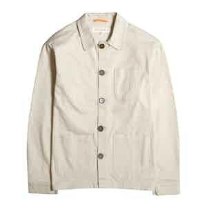Stone Organic Cotton Twill Station Jacket