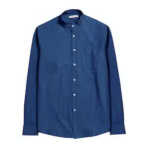 Ensign Blue BCI Cotton Textured Stripe Twombly Shirt