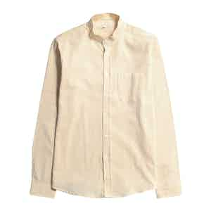 Neutral BCI Cotton Textured Stripe Twombly Shirt