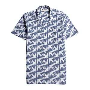 Blue Swallows BCI Cotton & Linen Selleck Short-Sleeved Shirt