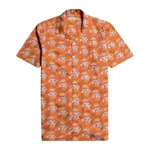Orange Organic Cotton Bud Thrush Stachio Short-Sleeved Shirt